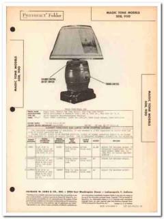 magic tone model 508 900 keg 4-tube am radio sams photofact manual