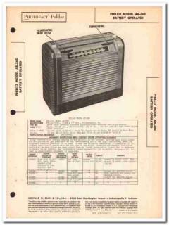 philco model 48-360 6-tube am radio receiver sams photofact manual