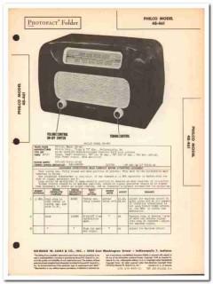 philco model 48-461 6-tube am radio receiver sams photofact manual