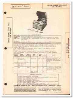 arvin model 150tc 151tc 5-tube am radio phono sams photofact manual