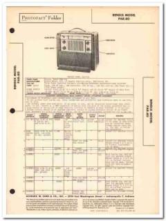 bendix model par-80 6-tube am sw lw radio sams photofact manual