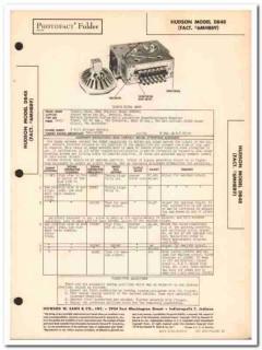 hudson model db48 6-tube automotive car am radio sams photofact manual