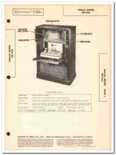 philco model 48-1266 9-tube am fm sw radio phono sams photofact manual