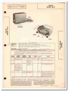 philco model cr-12 8-tube automotive am radio sams photofact manual