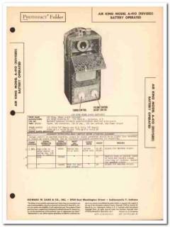 air king model a-410 4-tube portable am radio sams photofact manual
