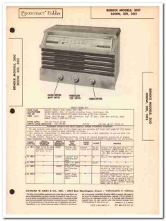 bendix model 300 300w 301 302 6-tube am radio sams photofact manual