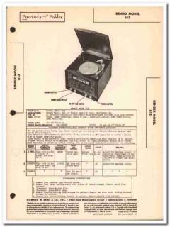 bendix model 613 5-tube am radio phonograph sams photofact manual