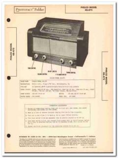 philco model 48-475 8-tube am fm radio receiver sams photofact manual