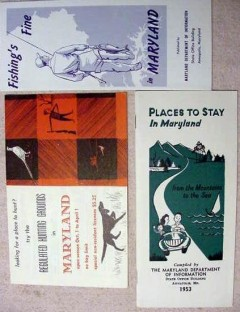 maryland vintage 1953 hunting fishing tourist travel booklets
