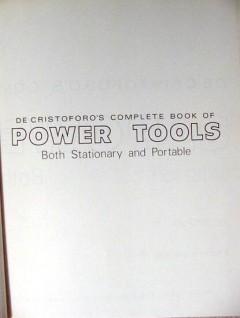 complete power tools decristoforo drill saw table portable book