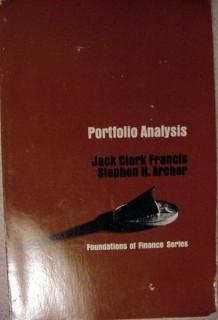 portfolio analysis francis archer finance techniques vintage book