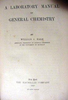 laboratory manual general chemistry william hale vintage book