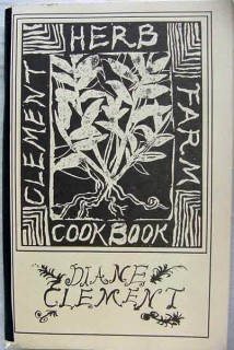 clement herb farm cookbook diane clement grow cook signed book