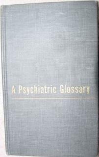 psychiatric glossary vintage 1957 psychiatry medical book