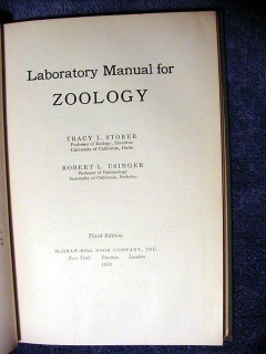 laboratory manual for zoology tracy storer vintage book