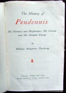 history of pendennis william makepeace thackeray vintage book
