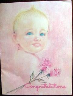 congratulations magazine 1958 baby growth record book