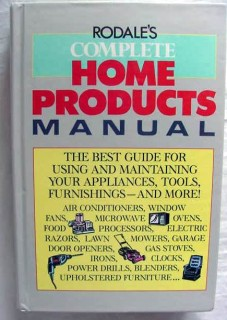 home products manual maintaining appliances tools furnishings book