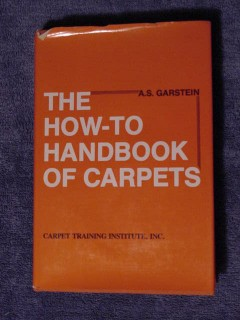 how to handbook of carpets by as garstein carpeting book