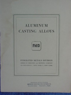 aluminum casting alloys vintage 1946 smelting metals book