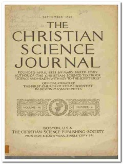 christian science journals mary baker eddy pantheism 11 books