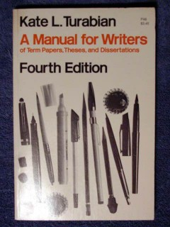 manual for writers kate turabian theses dissertation resume book