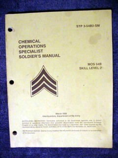 chemical operations specialist soldiers skill 2 manual army book
