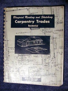 blueprint reading and sketching carpentry trades vintage book