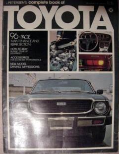 complete book of toyota 1975 petersens repair manual book