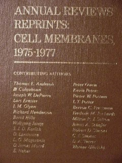 annual reviews reprints cell membranes 1975-1977 medical book