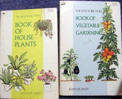 book of house plants and  vegetable gardening fuast 2 books