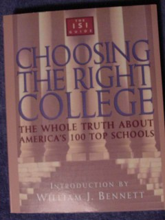 choosing the right college americas top 100 schools guide book