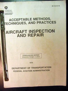 aircraft inspection and repair methods techniques practices book