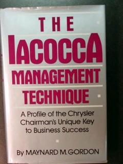 iacocca management technique chrysler maynard gordon book