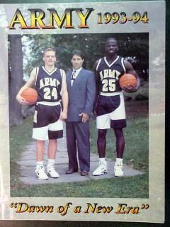 army 1993 94 dawn of a new era basketball program gaudio