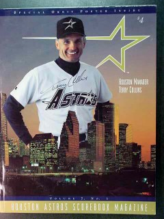 houston astros scorebook vol 7 no1 terry collins signed baseball guide