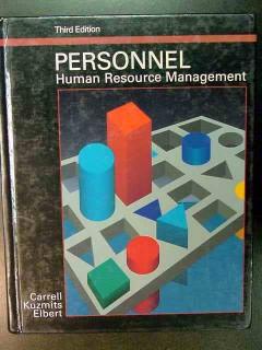 personnel human resource management carrell kuzmits elbert book