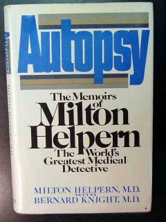 autopsy memoirs of milton helpern medical detective crime book