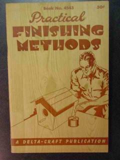 practical finishing methods vintage woodworking book