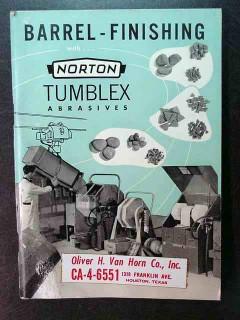 barrel finishing with norton tumblex abrasives vintage book