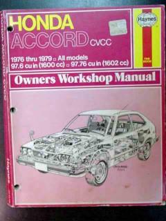 honda accord cvcc 1976-79 owners workshop manual