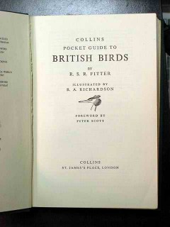 collins pocket guide to british birds fitter book