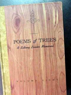 poems of trees sidney lanier memorial vintage book