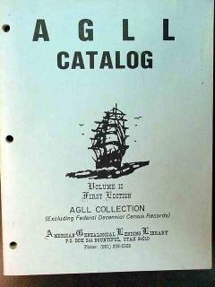 AGLL catalog genealogy book