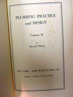 plumbing practice and design svend plum volume ii vintage book