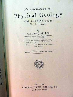 introduction to physical geology william miller vintage book