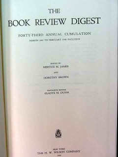 book review digest forty-third annual cumulation 1947