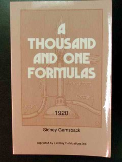 a thousand and one formulas sidney gernsback book