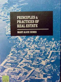 principles and practices of real estate mary alice hines sales book