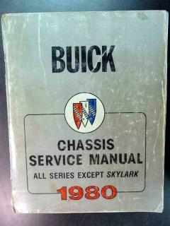 buick chassis service manual 1980 shop repair maintenance book